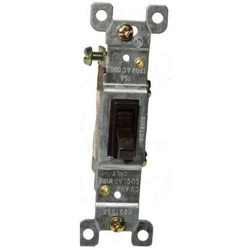 Morris 82012 Toggle Switch Brown Single Pole 15A-120/277V