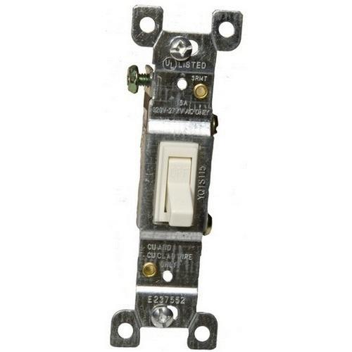 Morris 82013 Toggle Switch Almond Single Pole 15A-120/277V