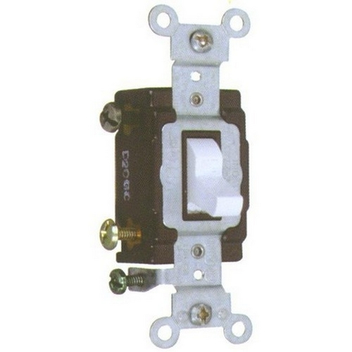 Morris 82021 Commercial Single Pole Toggle Switch White 20A-120/277V