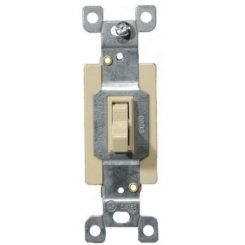 Morris 82020 Commercial Single Pole Toggle Switch Ivory 20A-120/277V