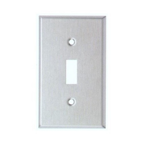 Morris 83010 430 Stainless Steel Wall Plates 1 Gang Toggle Switch