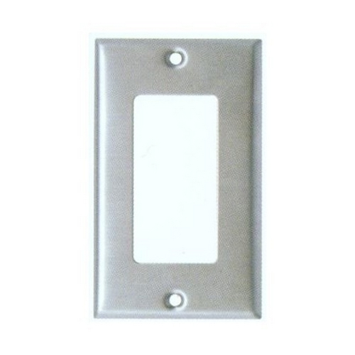 Morris 83110 430 Stainless Steel Wall Plates 1 Gang Decorative/GFCI