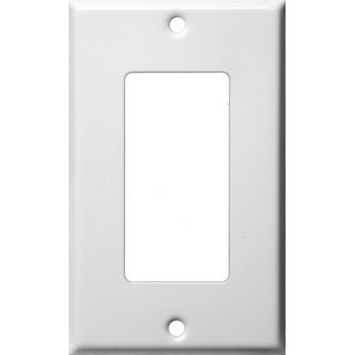 Morris 83112 Painted Steel Wall Plates 1 Gang Decorative/GFCI White