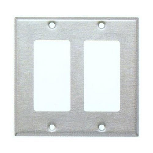 Morris 83120 430 Stainless Steel Wall Plates 2 Gang Decorative/GFCI