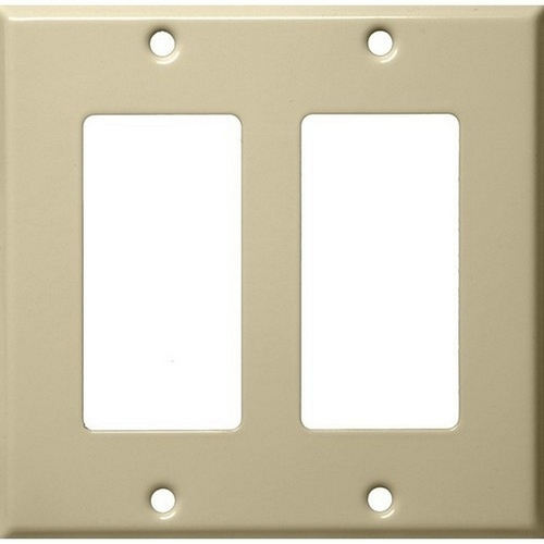 Morris 83123 Painted Steel Wall Plates 2 Gang Decorative/GFCI Ivory