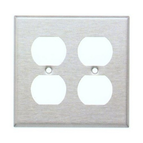 Morris 83220 430 Stainless Steel Wall Plates 2 Gang Duplex Receptacle