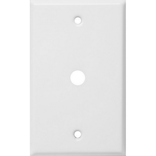 Morris 83467 Painted Steel Wall Plates 1 Gang Cable .4375