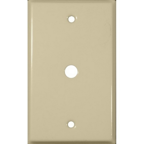 Morris 83463 Painted Steel Wall Plates 1 Gang Cable .625