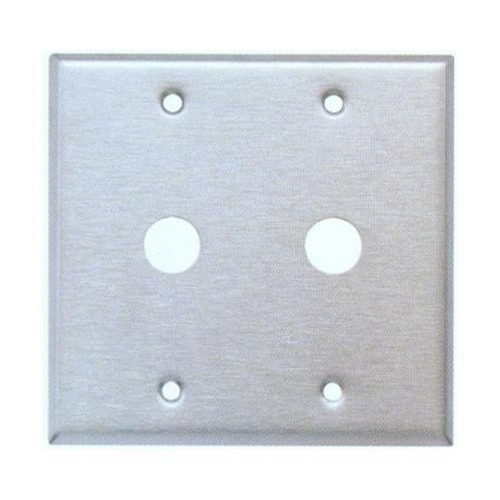 Morris 83470 430 Stainless Steel Wall Plates 2 Gang Cable .625