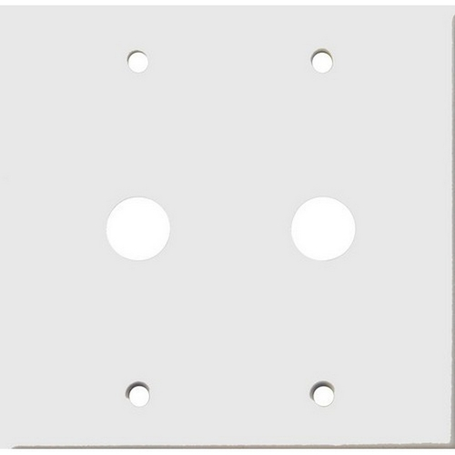 Morris 83472 Painted Steel Wall Plates 2 Gang Cable .625