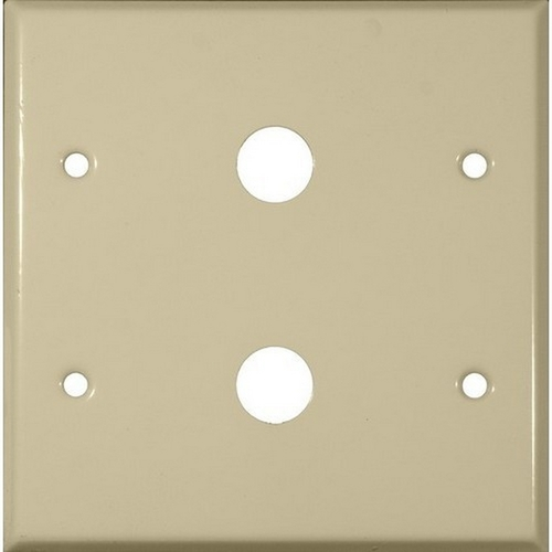 Morris 83473 Painted Steel Wall Plates 2 Gang Cable .625