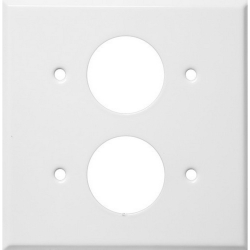 Morris 83512 Painted Steel Wall Plates 2 Gang 2 Single Receptacles 1.406