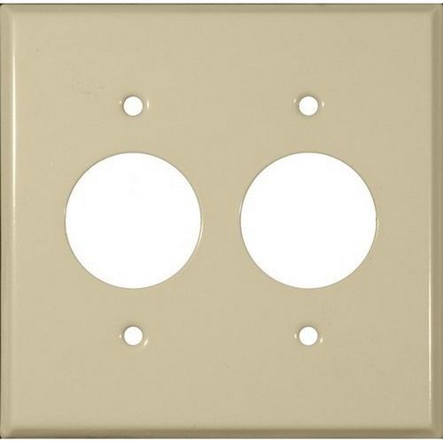 Morris 83513 Painted Steel Wall Plates 2 Gang 2 Single Receptacles 1.406