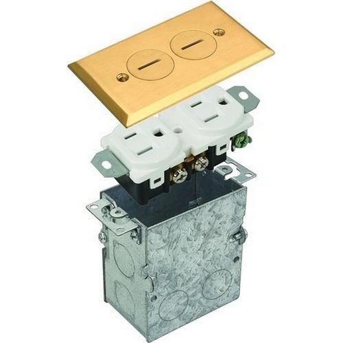 Morris 84002 Residential Floor Boxes Screw Lid Brass
