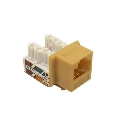 Morris 88020 Cat5E (RJ45) Unshielded Keystone Jacks Ivory