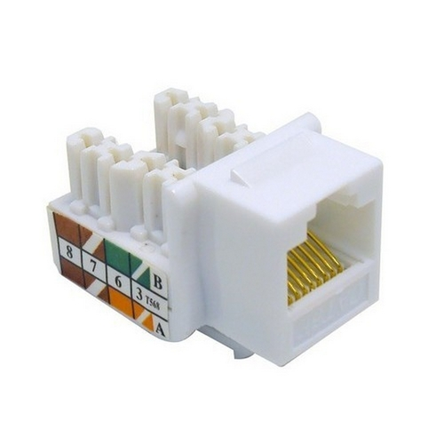 Morris 88021 Cat5E (RJ45) Unshielded Keystone Jacks White