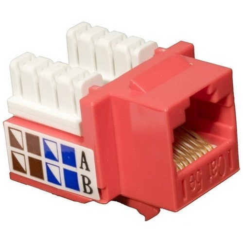 Morris 88023 Cat5E (RJ45) Unshielded Keystone Jacks Red