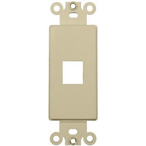 Morris 88102 Decorative DataComm Frame For Keystone Jacks and Modular Inserts One Port Ivory