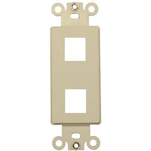Morris 88104 Decorative DataComm Frame For Keystone Jacks and Modular Inserts Two Ports Ivory