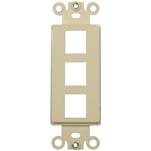 Morris 88106 Decorative DataComm Frame For Keystone Jacks and Modular Inserts Three Ports Ivory