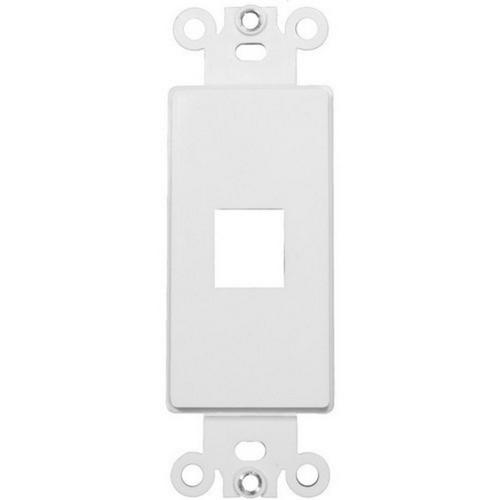 Morris 88112 Decorative DataComm Frame For Keystone Jacks and Modular Inserts One Port White