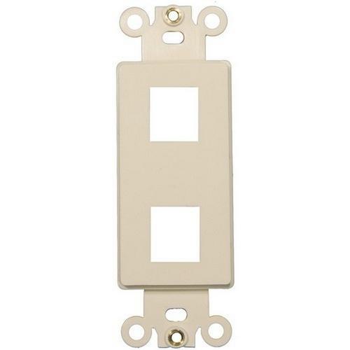 Morris 88124 Decorative DataComm Frame For Keystone Jacks and Modular Inserts Two Ports Lt. Almond