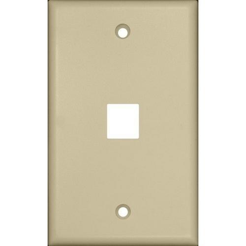 Morris 88142 Datacomm Wallplate For Keystone Jacks & Modular Inserts One Port Ivory