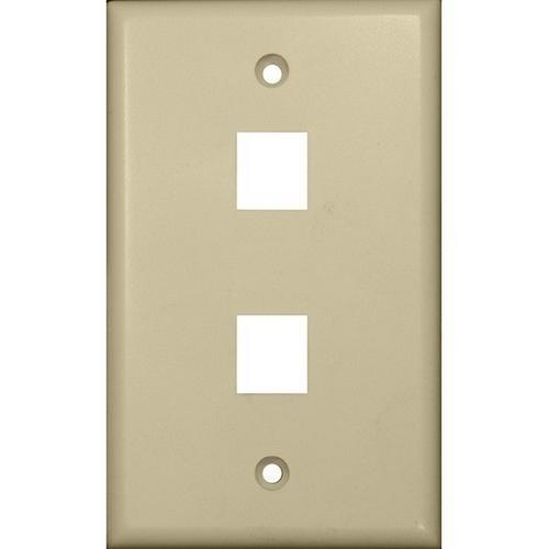 Morris 88144 Datacomm Wallplate For Keystone Jacks & Modular Inserts Two Ports Ivory