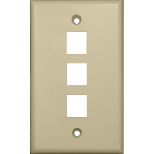 Morris 88146 Datacomm Wallplate For Keystone Jacks & Modular Inserts Three Ports Ivory