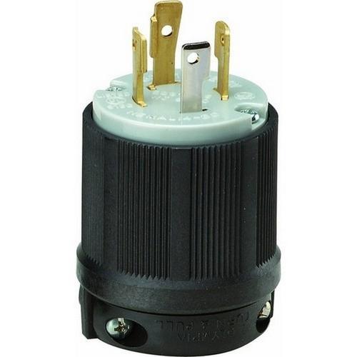 Morris 89756 Twist Lock Male Plugs 3 Pole 4 Wire 30A 125/250VAC