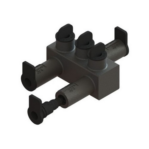 Morris 98052 Submersible Insulated Streetlighting Connectors Multi-Port Offset #14 - 2/0 3 Port