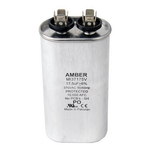 Morris T37175H Motor Run Capacitors Single Capacitance Oval Can - 370 VAC 17.5 uf