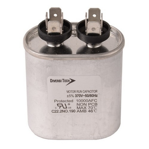Morris T37350H Motor Run Capacitors Single Capacitance Oval Can - 370 VAC 35 uf
