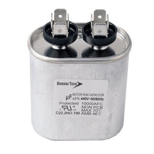 Morris T45150H Motor Run Capacitors Single Capacitance Oval Can - 440 VAC 15 uf