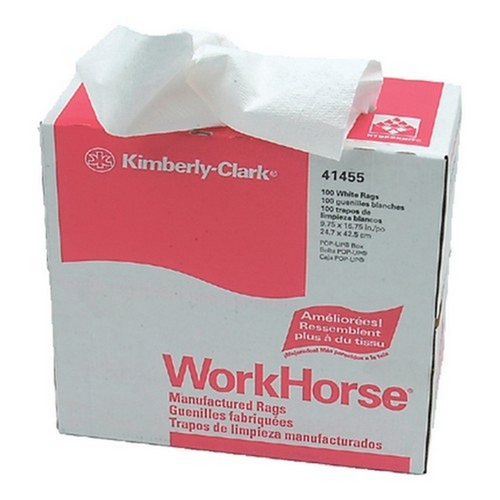 Morris T5-41455 White Workhorse® Manufactured Rags
