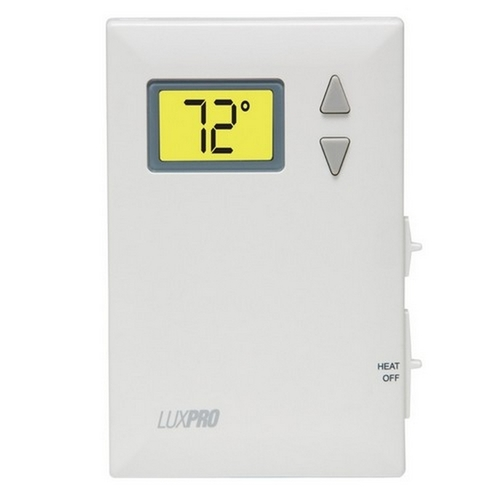 Morris T675-PSD010BF LuxPro Themostats Digital for Heat Only with Fan Switch