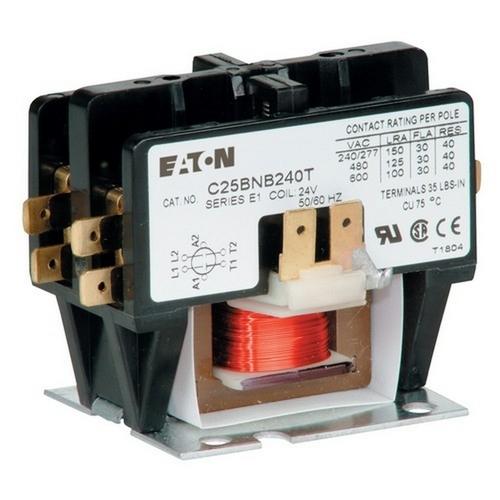 Morris TDPE202240 Eaton 2 Pole Definite Purpose Contactors 20A 240V Coil
