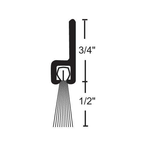 NGP B606A84 Nylon Brush Sweep, Anodized Aluminum, 84