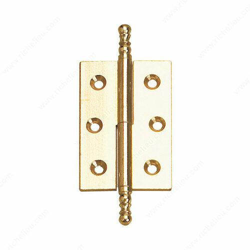 Richelieu BP841602130 Classic Solid Brass Butt Hinge - 8416