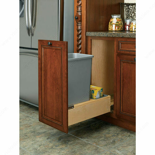 Richelieu 4WCBM15DM1 Bottom-Mounting Pull-Out Waste Container