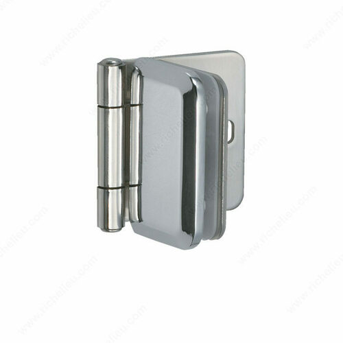 Richelieu 75480170 Stainless Steel Hinge For Glass/Acrylic Door Recessed in Furniture/Cabinet