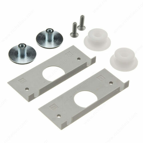 Richelieu 892212890 Glass fixing parts for 1 sliding door (ESG)