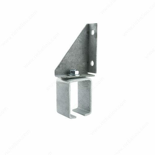 Richelieu 24648081GAV Single Adjustable Galvanized Steel Box Rail Bracket - Wall Mount