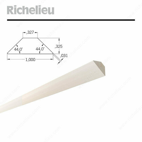 Richelieu 30144099035 44 Angle Wood Profiles