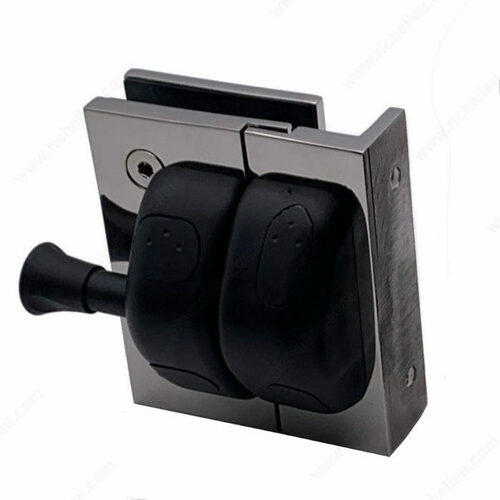 Richelieu PGLSQPG171 90 Square Post-to-Glass Pool Gate Latch