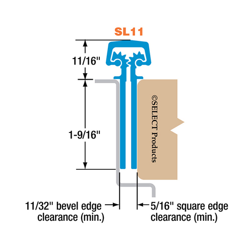 Select Hinges SL11 CL HD 83 Select Hinge Continuous Hinge