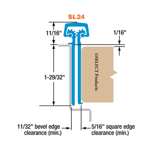 Select Hinges SL24 CL HD 95 Select Hinge Continuous Hinge