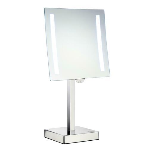 Smedbo FK473E Freestanding 5X Shaving/Make Up Mirror with Led Light