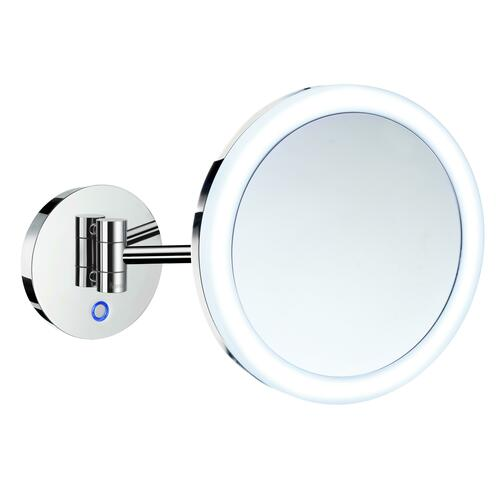 Smedbo FK485EP 5X Shaving/Make Up Mirror with Battery Led Light