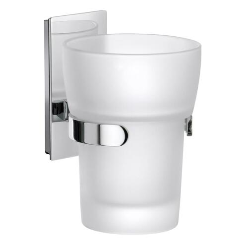 Smedbo ZK343 Holder with Tumbler, Frosted Glass